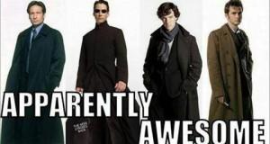 Fajni ludzie noszą długie płaszcze