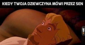 Kiedy Twoja dziewczyna mówi przez sen
