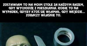 Jak przestraszyć złodzieja...