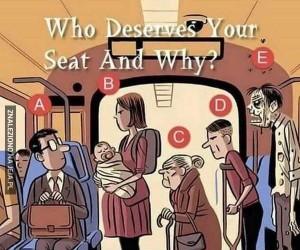 Komu ustąpisz miejsca i dlaczego?