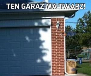 Ten garaż ma twarz!
