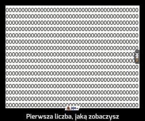 Pierwsza liczba, jaką zobaczysz