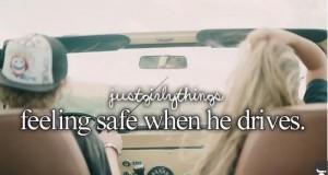 Czuję się bezpieczna gdy on prowadzi