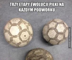 Trzy etapy ewolucji piłki