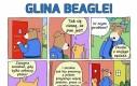 Glina Beagle i nieznośny sąsiad