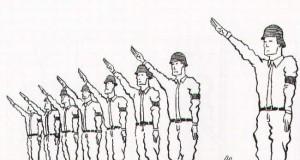 Samobójstwa zajączka: Zajączek i salutowanie