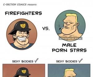 Strażak vs gwiazda filmów dla dorosłych