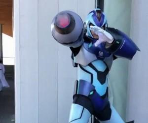Spoko cosplay Mega Mana