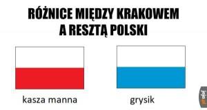 Kraków vs reszta Polski