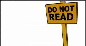 Nie czytaj