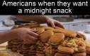 Nocna przekąska po amerykańsku