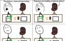 Lekcja plastyki z ciemnoskórym kolegą