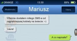 SMS od kobiety