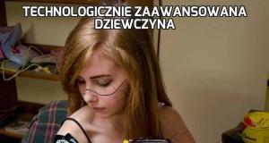 Technologicznie zaawansowana dziewczyna