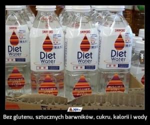 Bez glutenu, sztucznych barwników, cukru, kalorii i wody
