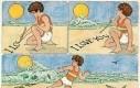 Napis na plaży