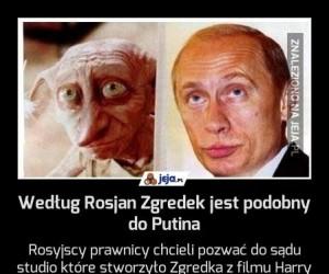 Według Rosjan Zgredek jest podobny do Putina