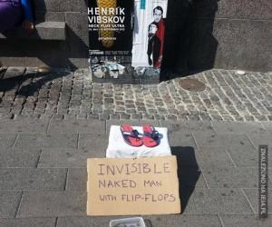 Niewidzialny uliczny artysta