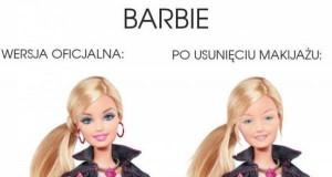 Barbie z makijażem i bez