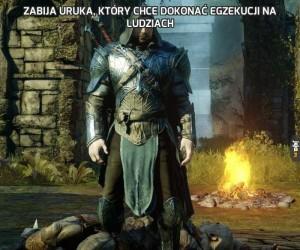 Zabija Uruka, który chce dokonać egzekucji na ludziach