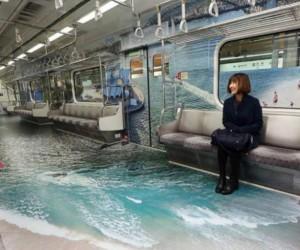 Niesamowita reklama w metrze w Seulu