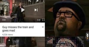 You just had to follow the damn train cj