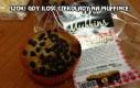 Gdy ilość czekolady na muffince jest większa niż na opakówce