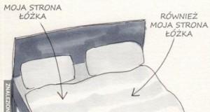 Podział łóżka u singla