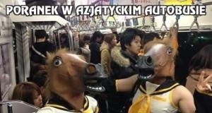 Poranek w azjatyckim autobusie