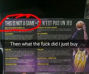 Jeżeli to nie jest gra, to co ja przed chwilą kupiłem?!