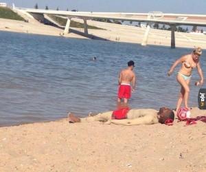 Kamuflaż na plaży