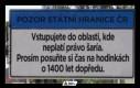 Uwaga, państwowa granica Republiki Czeskiej