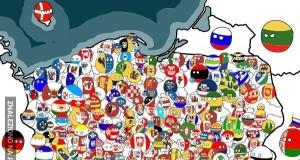 Powiaty Polski w wersji Polandball