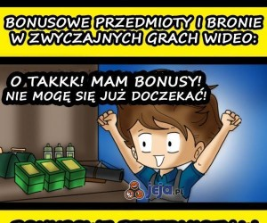 Bonusy w grach komputerowych
