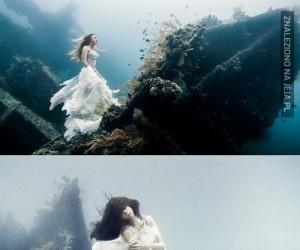 Podwodna sesja zdjęciowa