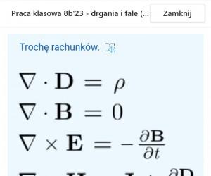 Tymczasem na teście z fizyki