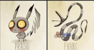 Pokemony w stylu Tima Burtona