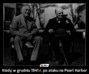 Kiedy w grudniu 1941 r. po ataku na Pearl Harbor
