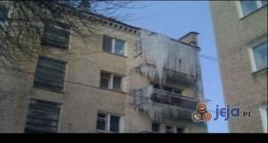 Zamrożony balkon