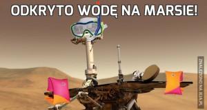 Odkryto wodę na Marsie!