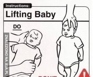Jak należy postępować z niemowlęciem