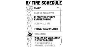 Mój śpiący plan dnia