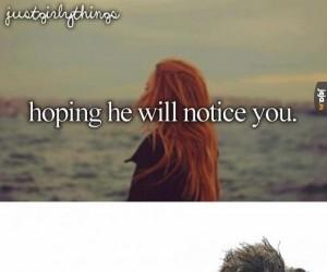 Żeby on Cię zauważył
