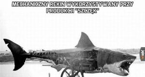 """Mechaniczny rekin wykorzystywany przy produkcji """"Szczęk"""""""