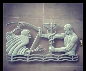 Właśnie przejeżdżałem obok szpitala i zauważyłem to. Muszą być tam bardzo pewni siebie