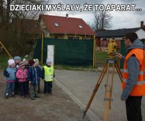 Dzieciaki myślały, że to aparat...
