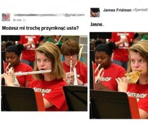 James jak zawsze pomocny