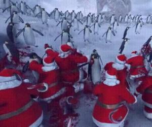 Bitwa pingwinów z Mikołajami