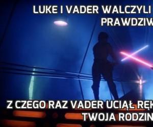 Luke i Vader walczyli ze sobą dwa razy na prawdziwe miecze