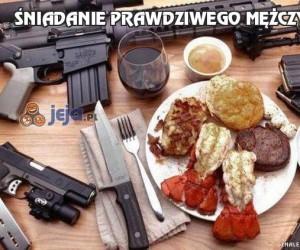 Śniadanie prawdziwego mężczyzny